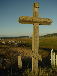 Graveyard on the shore of the White Sea