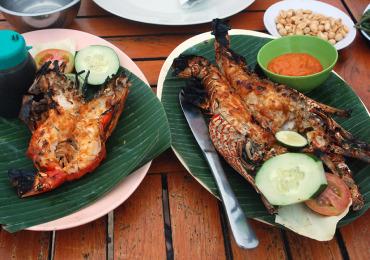 морепродукты на Бали