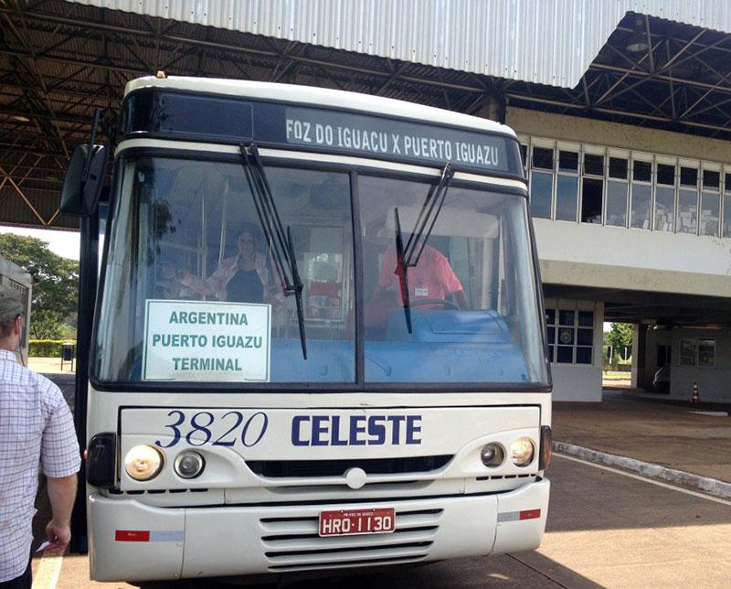 автобус в Пуэрто Игуасу