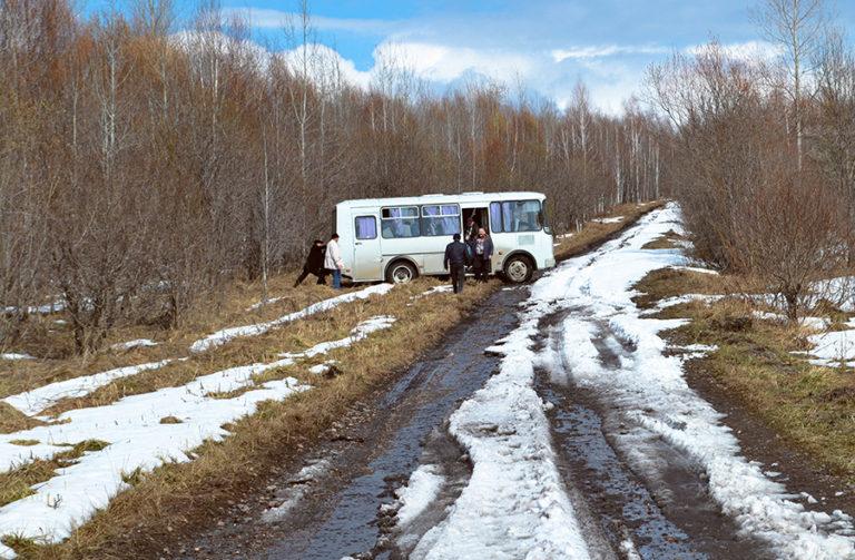 Дорога в Сибири
